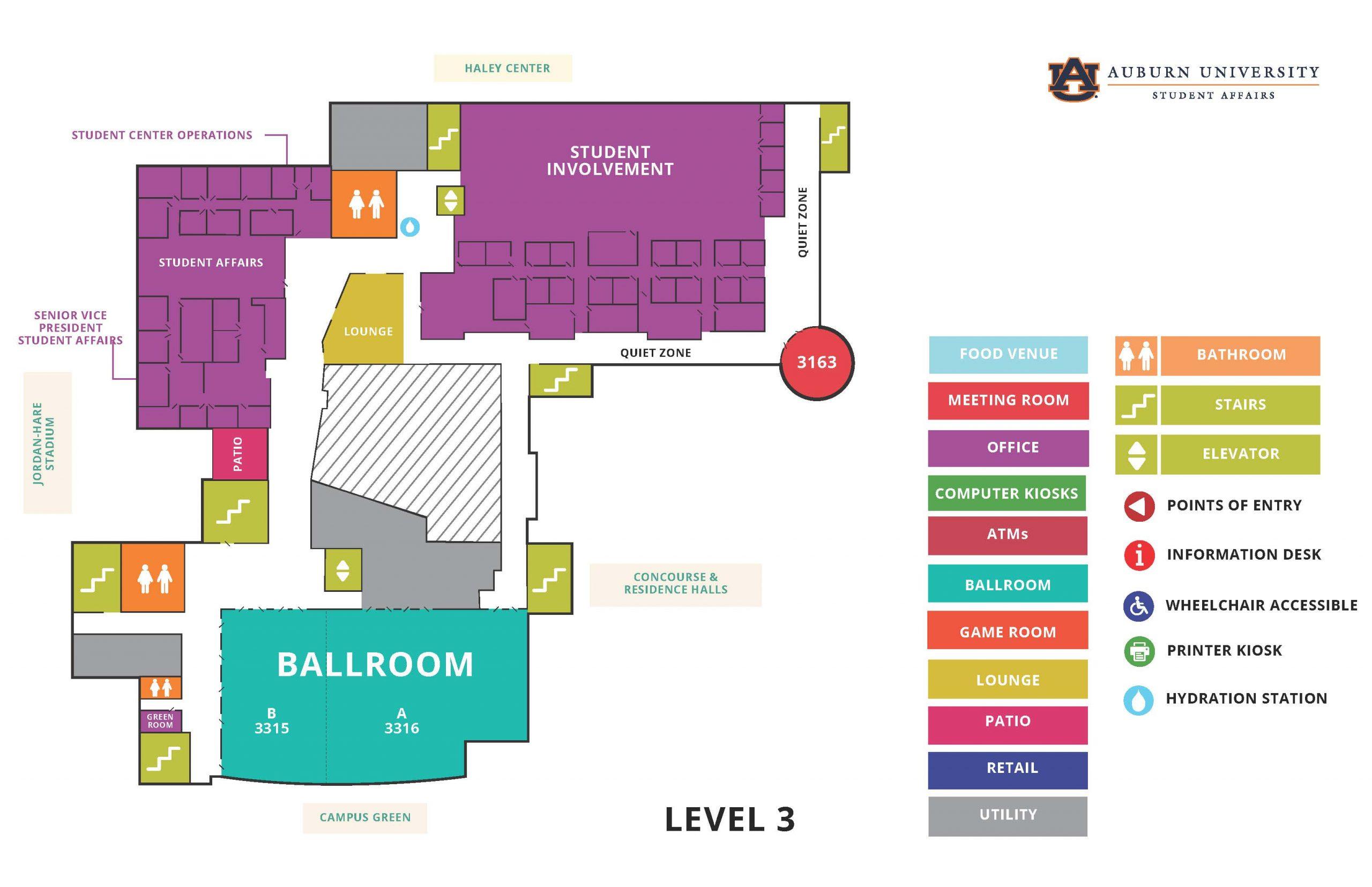 Melton Student Center map - 3rd floor